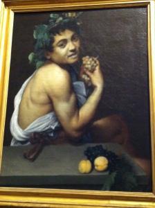 The sick Bacchus -Michaelangelo Merisi da Caravaggio  (Author's photo)
