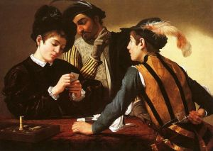 The Cardsharps Michaelangelo Merisi da Caravaggio