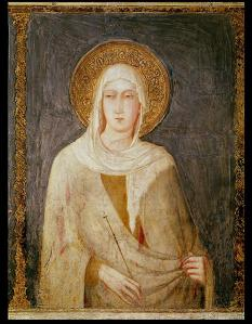Five-Saints-detail-of-St-Clare-xx-Simone-Martini