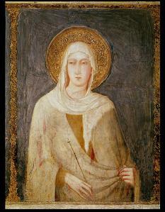 Five-Saints-detail-of-St-Clare-xx-Simone-Martini