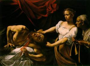Judith beheading Holofernes -Caravaggio Barberini Palace Museum, Rome