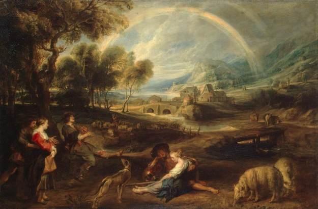 Landscape with a rainbow. -Peter Paul Rubens