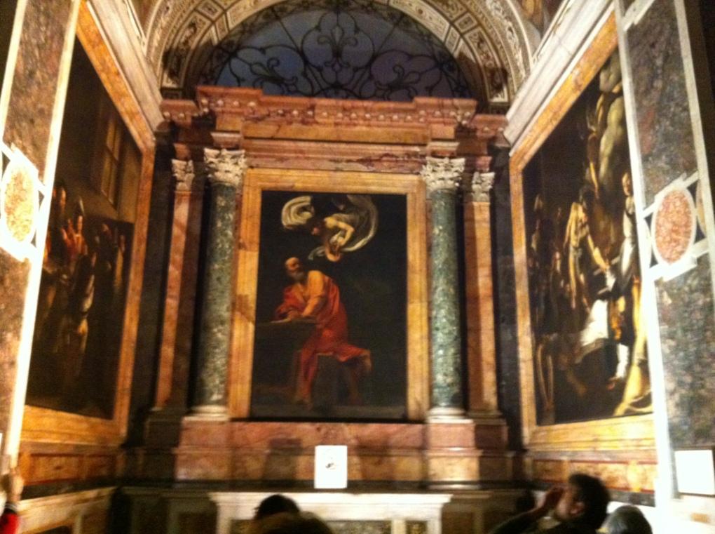 The Contarelli chapel, San Luigi del Francese, Rome. Author's collection
