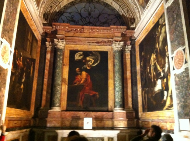 The Contarelli chapel, San Luigi del Francese, Rome. Author's collection