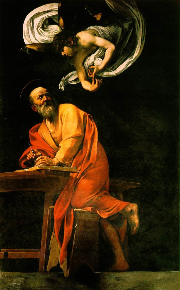 St. Matthew and the Angel -Michaelangelo Merisi da Caravaggio