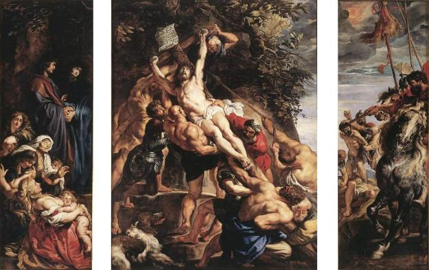 The Raising of Christ on the Cross - Peter Paul Rubens