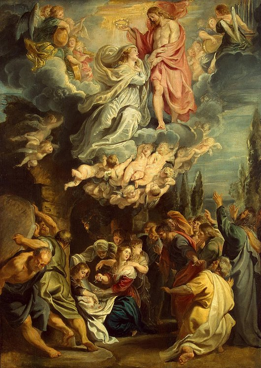 The Coronation of the Blessed Virgin.  -Peter Paul Rubens