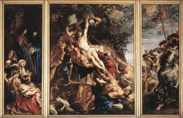 The Raising of the Cross - Peter Paul Rubens