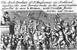 Presbyterians reject the book of Common Prayer in the Kirk, 1636